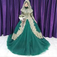 green wedding dresses turkish islamic women green wedding dress 2016 couture gown