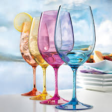 wine glass with initials indoor outdoor mixed color wine glasses set of 4 wine enthusiast