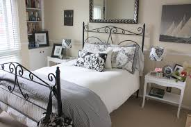 how to decorate a guest room balanced style new art for my black and white guestroom