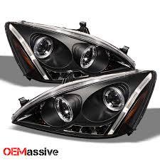 honda accord 2003 black 2003 2007 honda accord black bezel dual halo led projector