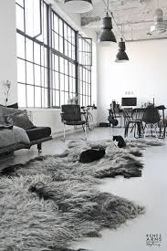 grey chairs feather rugs big windows metallic lamps cats