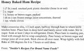 honey baked ham sherman provision