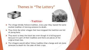 themes in the story the lottery group1ppt