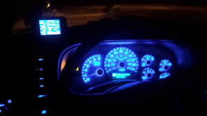 chevy silverado interior lights 2001 chevy silverado cluster blue led conversion youtube