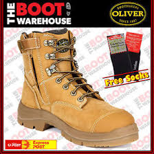 zipper boots s oliver work boots 55332z steel toe cap safety side zip free