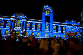 Christmas Light Projectors by Projection Studio Gets The Christmas Party Started In Barry A1