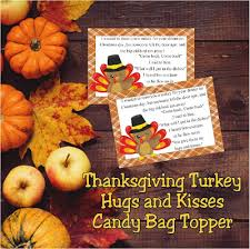 turkey kisses and hugs bag topper printable everyday