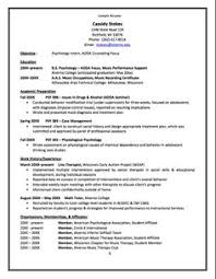 Resume Psychology Sample Summary Statement Resume Http Exampleresumecv Org