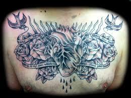 roses chest design tattooshunter com
