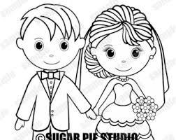 bride coloring etsy