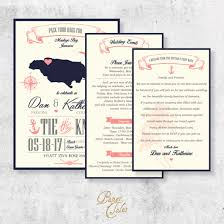 destination wedding invitation jamaica destination wedding formal invitation set papertales custom
