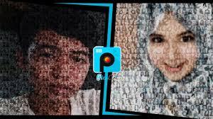 tutorial edit foto mozaik picsart cara membuat mozaik foto di android how to make mosaic
