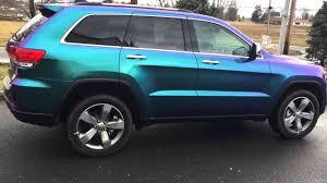 purple jeep cherokee 2015 jeep grand cherokee cameleon wrap youtube