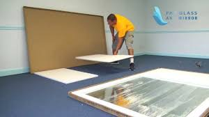 gym mirror installation step by step from fab glass and mirror