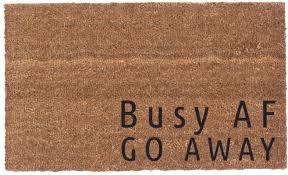 coco mats n more busy af go away vinyl backed doormat u0026 reviews