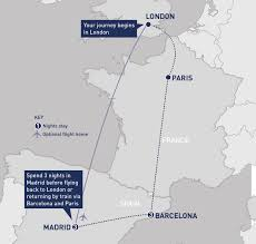 Madrid Spain Map Barcelona And Madrid Railbookers