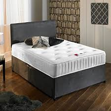 Suede Bed Frame New Charcoal Grey Luxury Suede Divan Bed Set With Orthopaedic