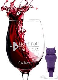 novelty wine glasses gifts buy for 2 95 89 discount glass half novelty wine glass in