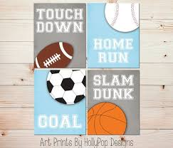Sports Nursery Wall Decor Room Decor Sports Nursery Baby Boy Prints Boys Room