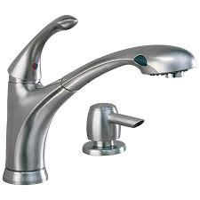 16927 sssd dst single handle pull out kitchen faucet with soap