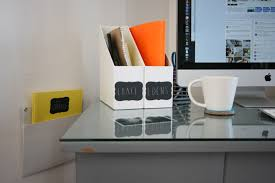 modern desk accessories and organizers well made gray martha stewart blair desk sand with glass on top