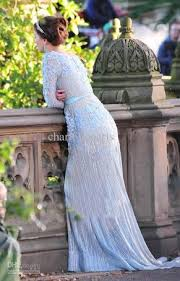 blair wedding dress blair waldorf wedding dress blue on the hunt
