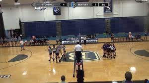 bentley university athletics logo bentley volleyball vs stonehill 10 4 16 youtube