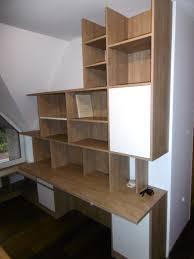 combin bureau biblioth que bureau bibliothèque asymétrique sous mansarde en mélaminé