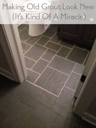 Cleaning Old Tile Floors Bathroom Renewed Grout From Home Depot With Just A Couple Of Hours Of