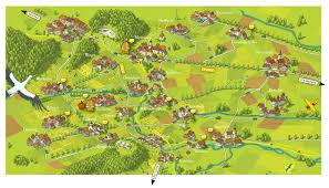 The Villages Map European Villages Kirk Nielsen