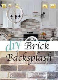 do it yourself backsplash for kitchen do it yourself brick veneer backsplash bricks kitchens and house