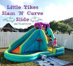 little tikes infaltable slam u0027n u0027 curve slide review