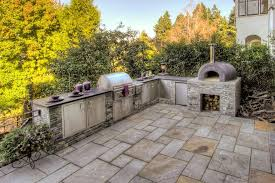 ceramic outdoor pizza ovens patio traditional with slope round