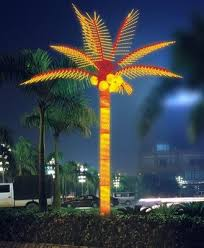 custom made palm trees the lighted palm tree and the fireworks