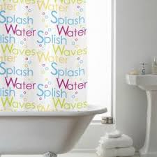 Words Shower Curtain Shower Curtains Great Value Curtains Terrys Fabrics