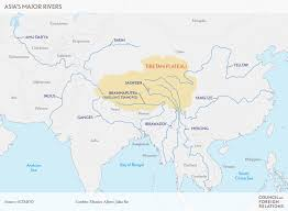 Map Of Nepal And Tibet by Water Clouds On The Tibetan Plateau Council On Foreign Relations