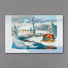pumpernickel christmas cards snowy church and nativity christmas cards http partyblock