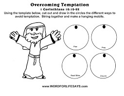 jesus was tempted craft mobile craft for kids overcoming