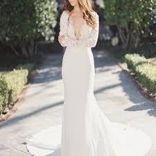 sle sale wedding dresses 2018 v neck lace top mermaid wedding party dresses
