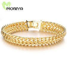 classic gold bracelet images Moniya classic gold color chain bracelet men jewelry trendy 20cm jpg