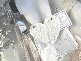 Baptism Ornament Favors Baptism Napkin Rings Wedding Favors Set Of 10 Imprinted Heart