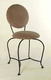 vanity stool wrought iron