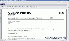 volvo penta 2012 spare parts catalog parts manual