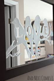best 25 etched mirror ideas on pinterest mirrored wardrobe diy lovebirds etched mirror from and next comes l