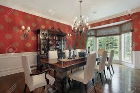 Wallpaper In Dining Room by Red Walls In Dining Room Gallery And Dinning Ideas Home Images