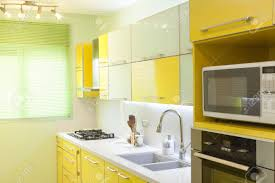 kitchen industrial green and yellow kitchen ideas green and