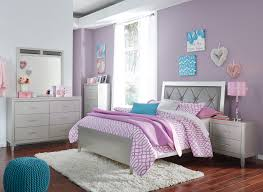signature design by ashley olivet glam twin panel bed with faux