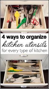 How To Organize Kitchen Cabinet Best 25 Kitchen Utensil Organization Ideas On Pinterest Kitchen