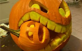 halloween eating small pumpkin carving creative ads and more u2026