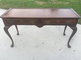 queen anne entry table rare vintage harden queen anne cherry desk console entry table